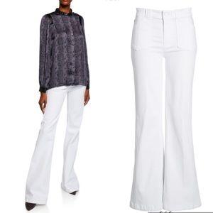 NWT Paige Genevieve Flare Jeans w/ Utility Pockets